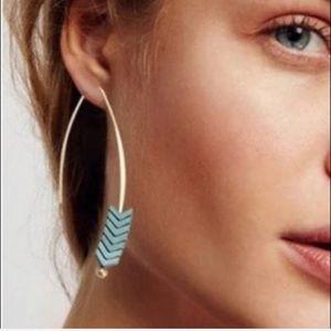 LAST PAIR! Best seller! FP half hoop earrings